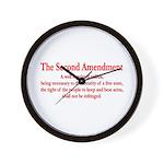 The Second Amendment Wall Clock