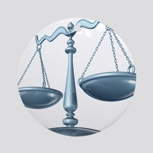 scale of justice Ornament (Round)