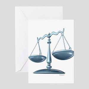scale of justice Greeting Card