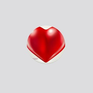 healthy heart life style Mini Button