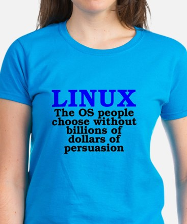 Linux. The OS people choose Women's Dark T-Shirt