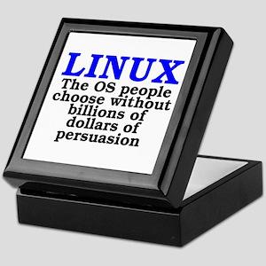 Linux. The OS people choose Keepsake Box