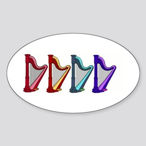rainbow harps Sticker