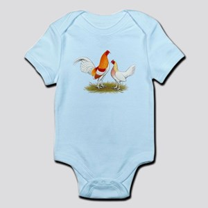 Old English Bantam: Red Pyle Infant Bodysuit