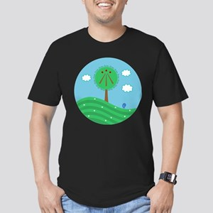 Druid Tree Men's Fitted T-Shirt (dark)