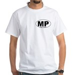 Mt Pleasant Decal-style White T-Shirt