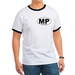 Mt Pleasant Decal-style Ringer T