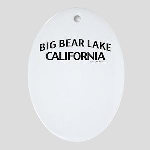 Big Bear Lake Ornament (Oval)