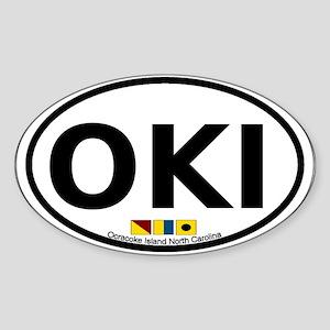 Ocracoke Island - Sandollar Design Sticker (Oval)