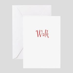 Walk Greeting Card
