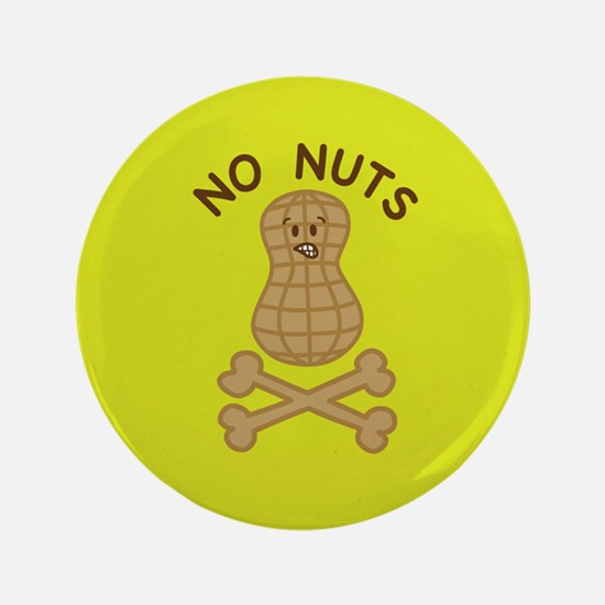 """Cute Allergic to nuts 3.5"""" Button"""