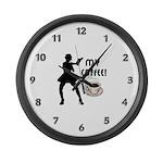 My Coffee Large Wall Clock