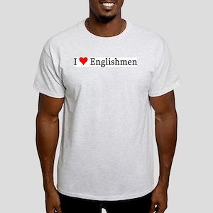 I Love Englishmen Ash Grey T-Shirt