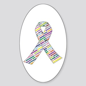 all cancer rep ribbon 2.1 Sticker