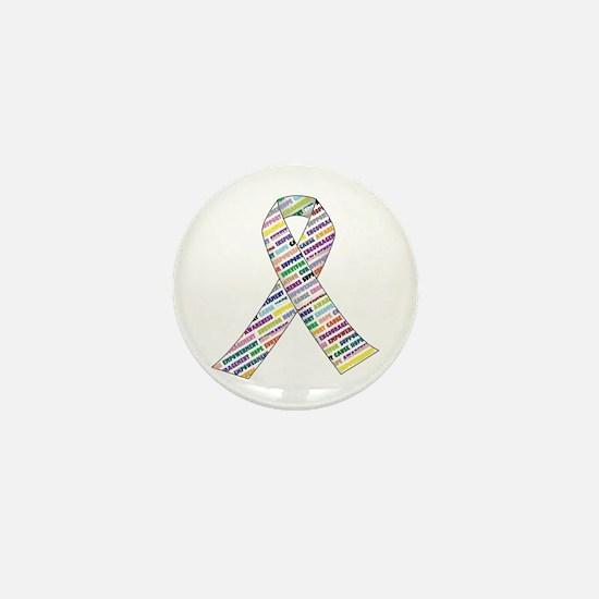 Cute Cancer ribbon Mini Button
