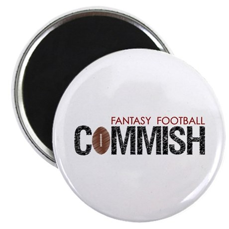 "Fantasy Football Commish 2.25"" Magnet (10 pack)"