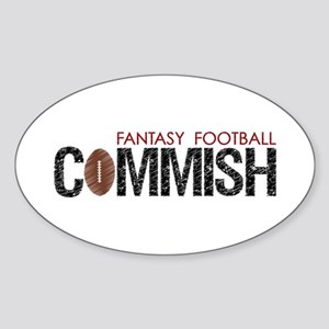 Fantasy Football Commish Sticker (Oval)