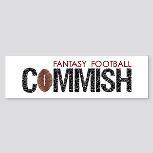 Fantasy Football Commish Sticker (Bumper)