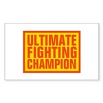 UFC Rectangle Sticker