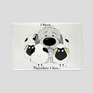 Sheepdog - I Herd... Rectangle Magnet