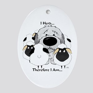 Sheepdog - I Herd... Ornament (Oval)
