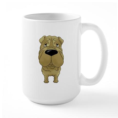 Big Nose Shar-Pei Large Mug
