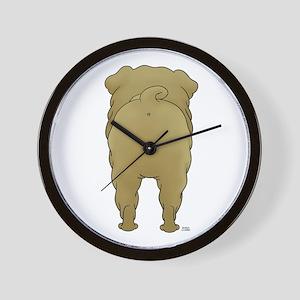 Big Butt Shar-Pei Wall Clock