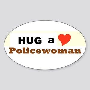 Policewoman Sticker (Oval)