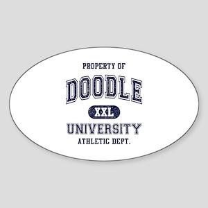 Doodle University Sticker (Oval)