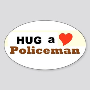 Policeman Sticker (Oval)