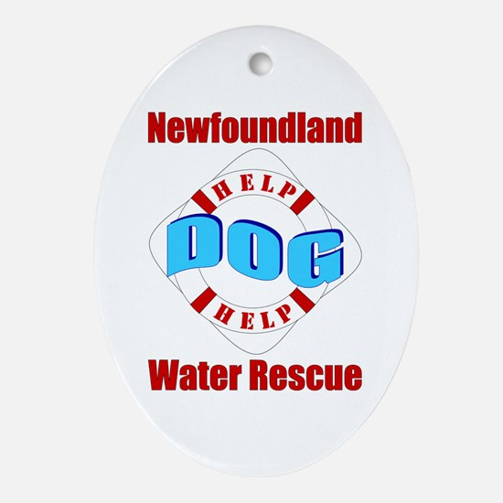 Newfoundland Water Rescue Ornament (Oval)