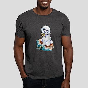 Bichon Frise Beach Dark T-Shirt