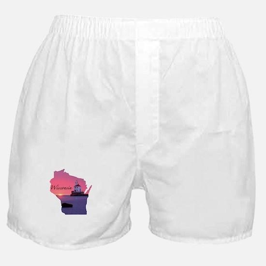 Wisconsin lighthouse Boxer Shorts