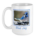 Blue Jay 15 oz Ceramic Large Mug