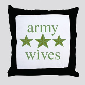 Army Wives Throw Pillow