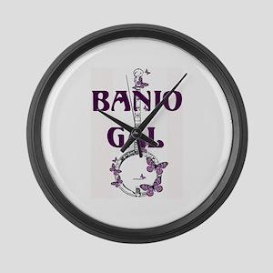 Butterfly Banjo Large Wall Clock