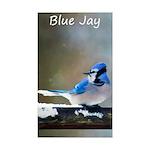 Blue Jay Sticker (Rectangle 10 pk)