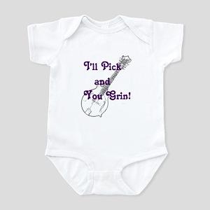 Grin and Mandolin Infant Bodysuit