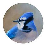 Blue Jay Round Car Magnet