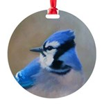 Blue Jay Round Ornament