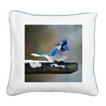 Blue Jay Square Canvas Pillow