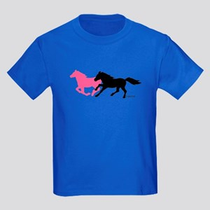 Horses (B&P) Kids Dark T-Shirt