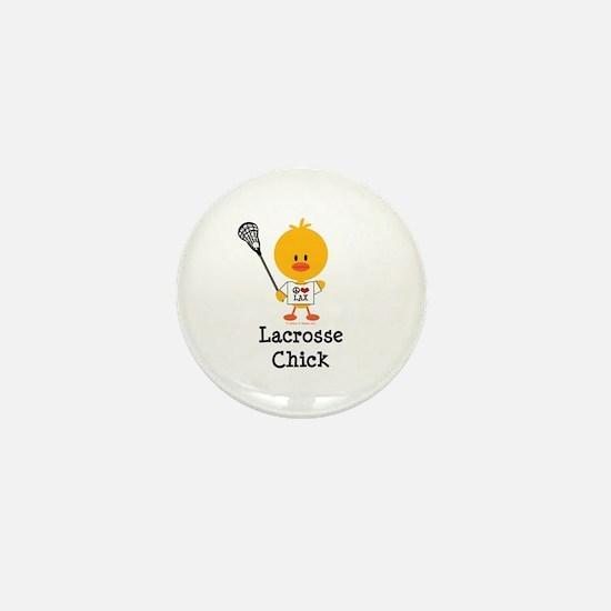 Lacrosse Chick Mini Button
