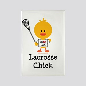 Lacrosse Chick Rectangle Magnet