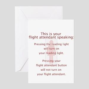 Turned On Flight Attendant Greeting Card