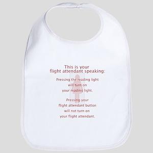 Turned On Flight Attendant Bib
