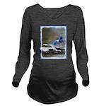 Blue Jay Long Sleeve Maternity T-Shirt
