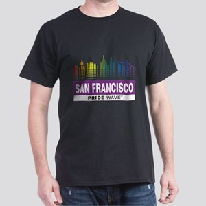 "PRIDE WAVE ""San Francisco"" Black T-Shirt"