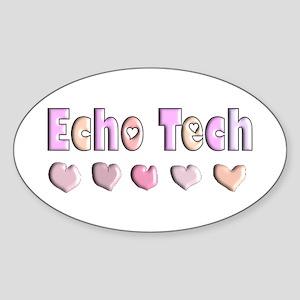 echo tech Sticker (Oval)