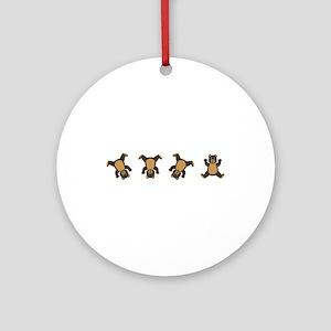 Cartwheel Bears Ornament (Round)